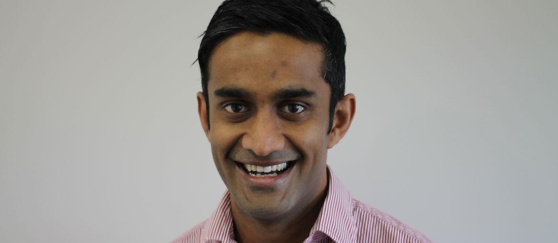 Profile photo of man (Ramachenderan) smiling