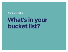 question_what is in your bucket list
