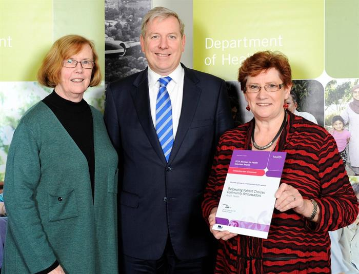 Advance Care Planning Australia volunteers accepting an award in 2014.